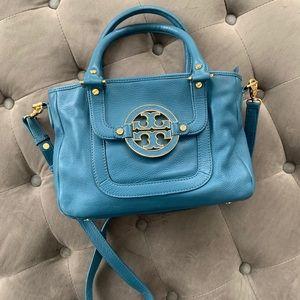 Tory Burch Amanda blue satchel / crossbody mini